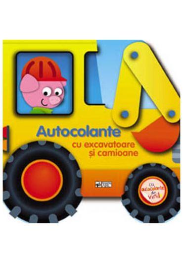 Autocolante cu excavatoare si camioane