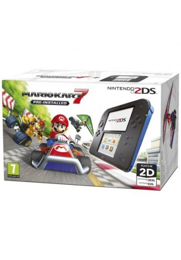 Consola Nintendo 2DS Black & Blue Mario Kart 7 - GDG