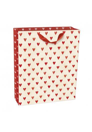 Punga medie pentru cadouri - Hearts