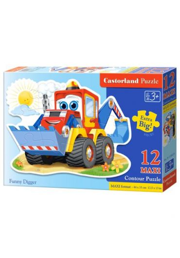Puzzle 12 piese Maxi Funny Digger