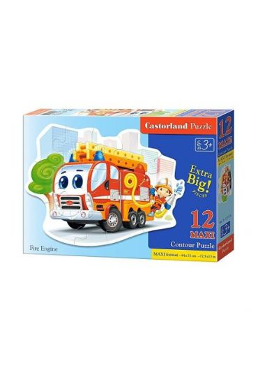 Puzzle 12 piese Maxi Fire Engine