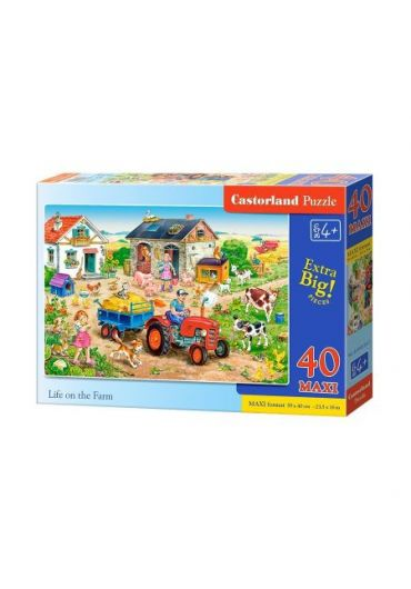 Puzzle 40 piese Maxi Life on the Farm