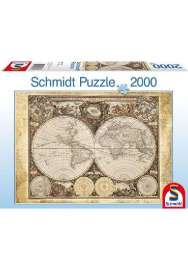 Puzzle 2000 piese Historical Map of the World