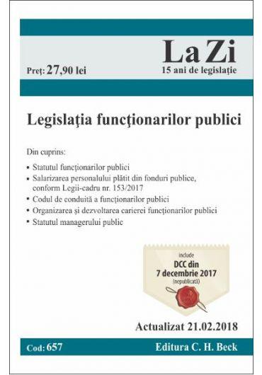 Legislatia functionarilor publici (Actualizat 21.02.2018)