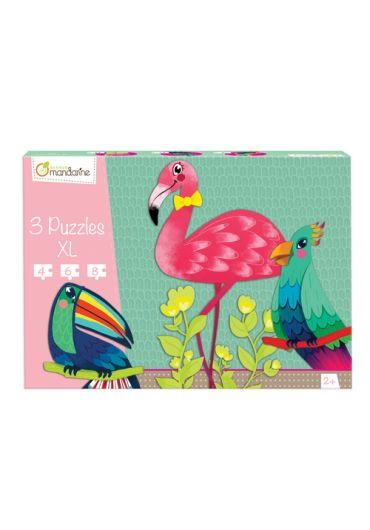 Set 3 puzzle XL Pasari tropicale