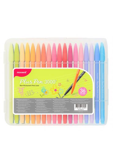 Set 36 Fineliner Monami Plus Pen 300