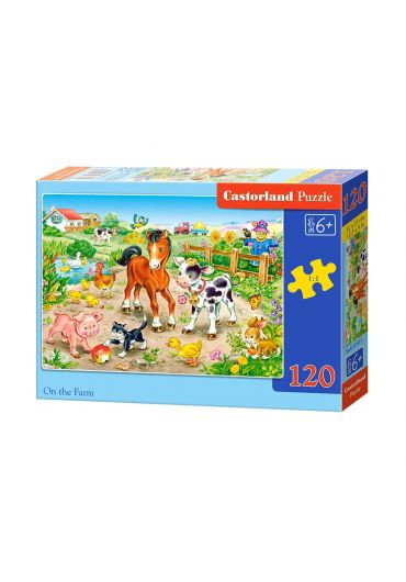 Puzzle 120 piese On the Farm