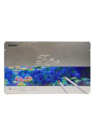 Creioane 36 culori cutie metalica Marco Raffine 7100-32TN