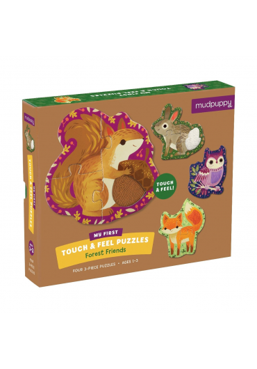 Touch & Feel Puzzle - Forest animals