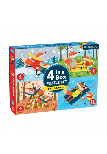 4 in a box puzzle set - Four seasons