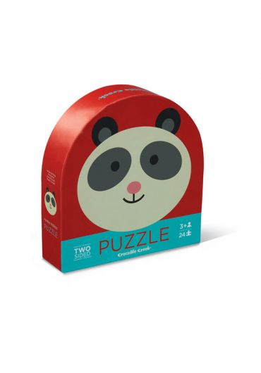 Puzzle rotund 2 fete - Panda friends