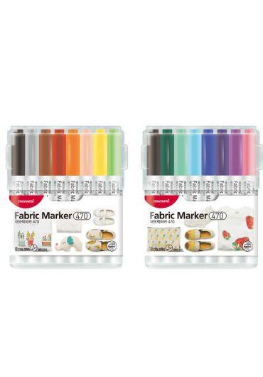 Set markere pentru tesaturi 470 16 culori