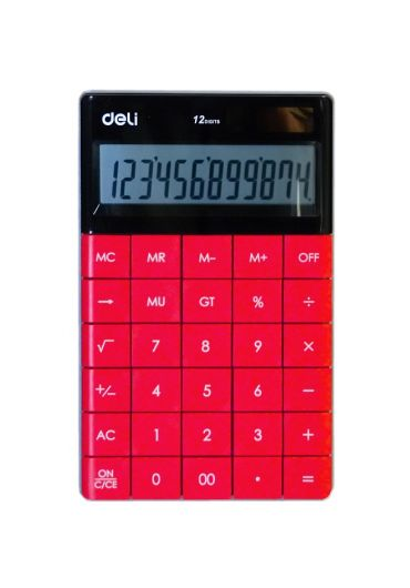 Calculator birou 12 digits rosu