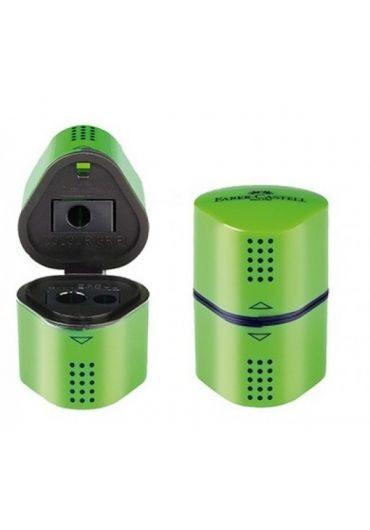 Ascutitoare tripla cu container verde