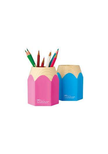 Suport instrumente de scris Creion roz / bleu