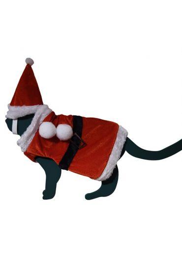 Costum cu palarie Xmas Santa pentru animale de companie