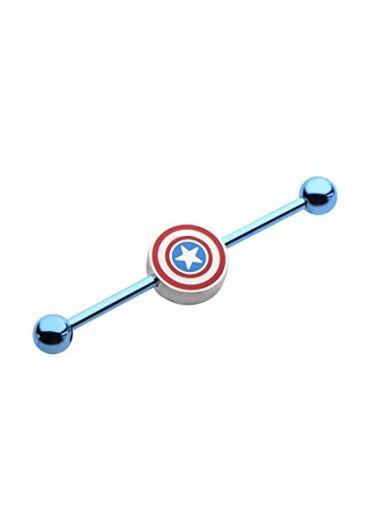 Piercing ureche cartilaj Captain America