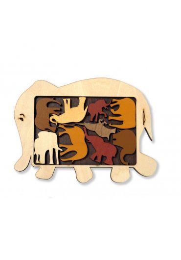 Animal puzzle - Elephant Parade