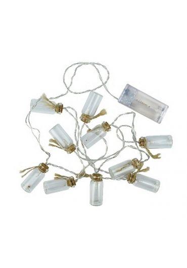 Instalatie 10 becuri LED in forma de borcanele
