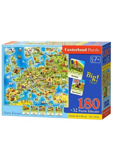Puzzle educativ Harta Europei