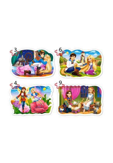 Puzzle 4 in 1 (3+4+6+9 piese) Clasic Fairy Tales