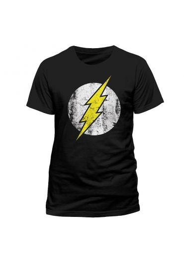 Tricou The Flash Logo Negru - Marimea L