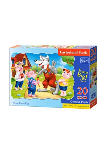 Puzzle 20 piese Maxi Three Little Pigs