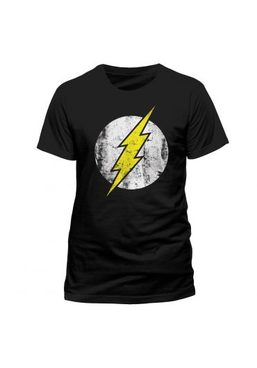 Tricou The Flash Distress Logo Negru - Marimea M
