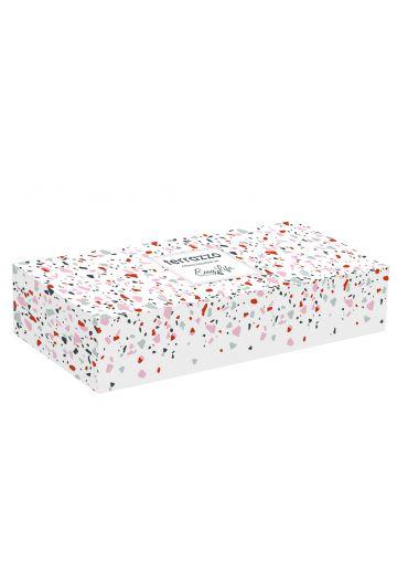 Set 3 mini-boluri portelan Terrazzo in cutie cadou