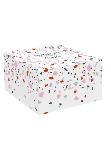 Set 2 cesti portelan 0.12 l Terrazzo in cutie cadou