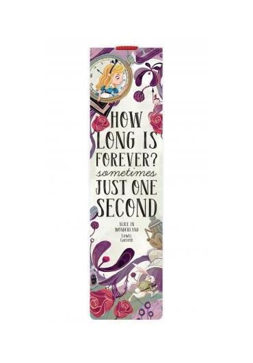 Semn de carte cu elastic - Alice in Wonderland