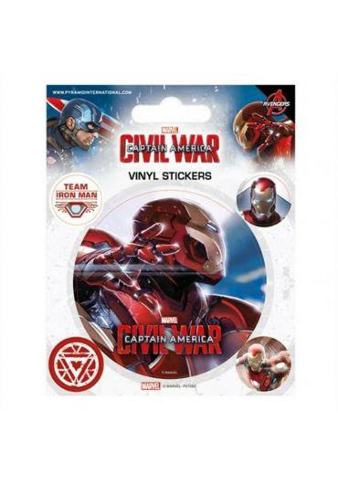Sticker Civil War - Iron Man