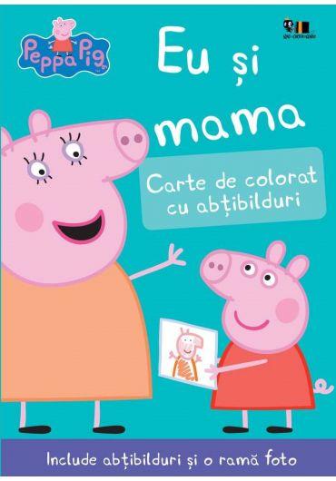 Peppa Pig - Eu si mama. Carte de colorat cu abtibilduri