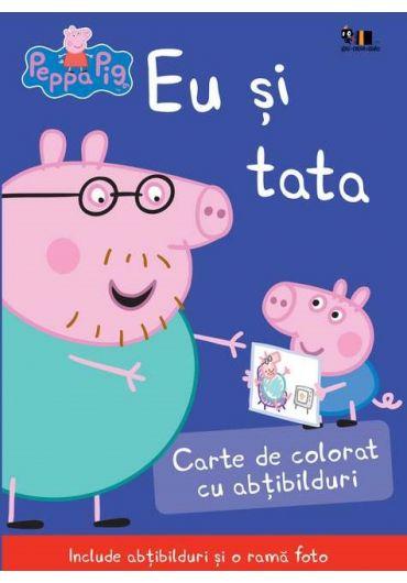 Peppa Pig - Eu si tata. Carte de colorat cu abtibilduri