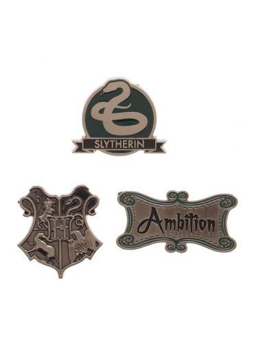 Set 3 Insigne Harry Potter Slytherin