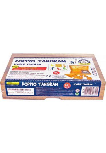 Puzzle din lemn Tangram Double