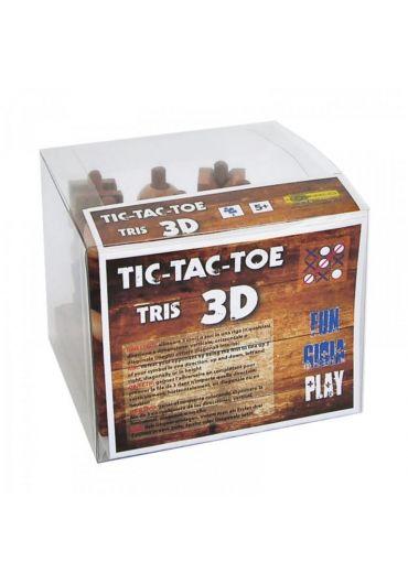 Joc Tris 3D din lemn - Tic Tac Toe