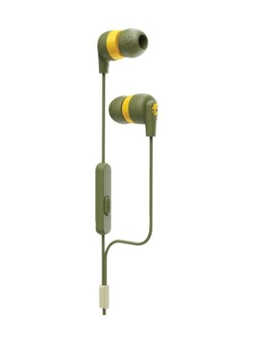Casti Ink'd+ In-Ear Earbuds with Microphone - Moss Olive/Yellow