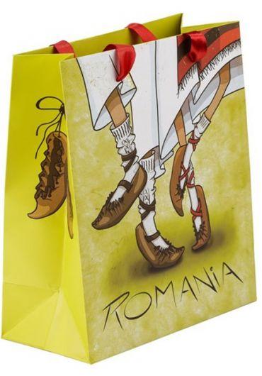 Punga din hartie Romania 26x32x10 cm