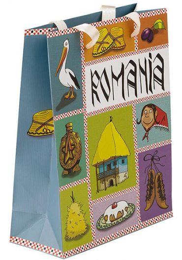 Punga din hartie Romania 20.5x26x8.5 cm