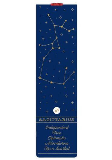 Semn de carte cu elastic - Sagittarius