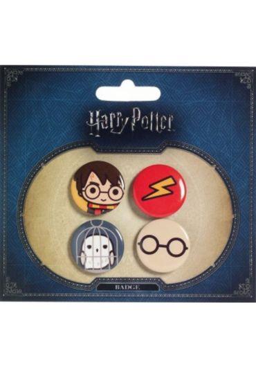 Set 4 insigne Harry Potter