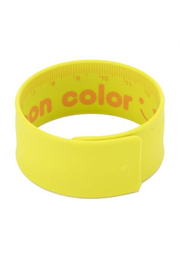 Rigla flexibila 18 cm otel si cauciuc verde neon