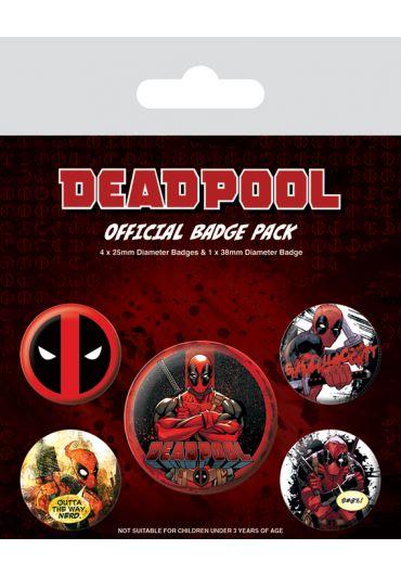 Set 5 insigne Deadpool