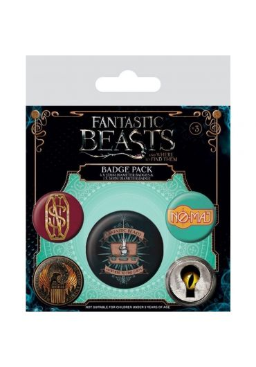 Set 5 insigne Fantastic Beasts