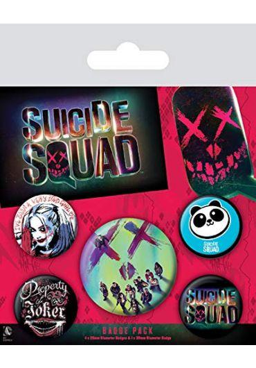 Set 5 insigne Suicide Squad 2