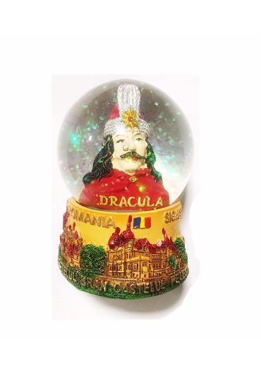 Decoratiune glob 6.5 cm Romania - Vlad Tepes