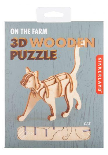 Puzzle lemn 3D - Cat