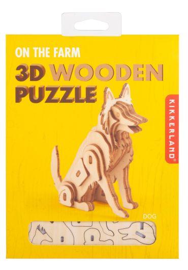 Puzzle lemn 3D - Dog