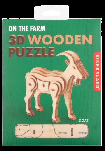 Puzzle lemn 3D - Goat